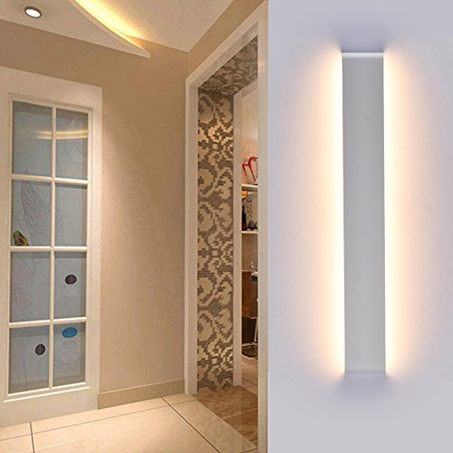 Ralbay Aplique Pared LED Interior Diseño Moderno Cómodo 24W Blanco Cálido 2700~3000K, AC110-220V, IP 44, Decoración para Salon Pasillo Escalera Dormitorio Baño