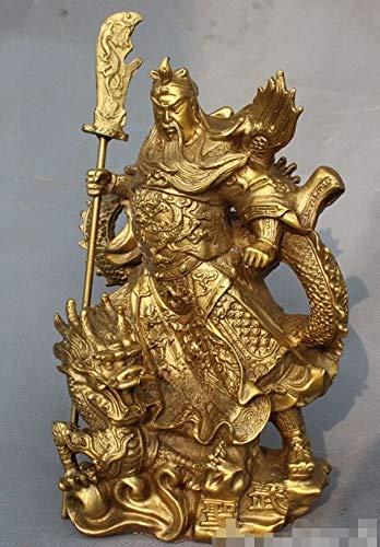 Hong Yi Fei-Shop Guan Yu Estatua China Folk China Latn Dragones Generales Guerrero Guan Yu Guan Gong Estatua de Dios Feng Shui Decoracin