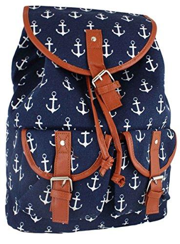 Sonia Originelli Rucksack Anker Lilly Anker Maritim Tasche Farbe Marineblau