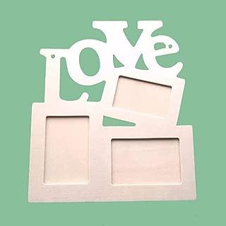 Forma decorativa cavidades arte marco de fotos de amor a base de madera blanca fotografía básica blanca # 25,como la imagen,porcelana
