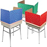 Really Good Stuff Privacy Shields for Student's Desks – Set of 12 - Keeps Their Eyes on Their Own Test/Assignments (Matte, Assorted)