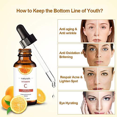 51ddSsLVRXL - Vitamin C Serum for Face with Hyaluronic Acid, Vitamin E & Niacinamide (B3) Face Serum for Anti Wrinkle, Anti Aging, Hydrate & Dark Spot Vitamin C Oil Facial Serum