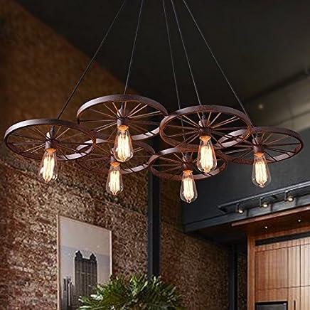 Amazon.es: lámparas rusticas de mesa - Lámparas de araña ...