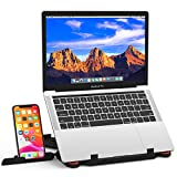 Besign Adjustable Laptop Stand, Ergonomic Riser Notebook Computer Holder Stand Compatible with MacBook Air Pro, Dell XPS, HP, Lenovo More 10-15.6' Laptops