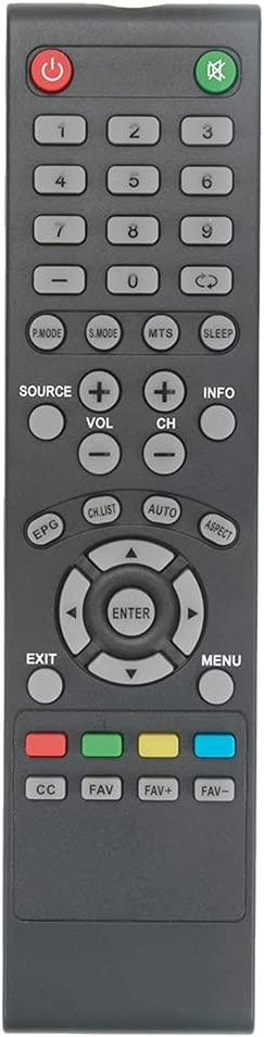R0032REM Replacement Remote Applicable for RCA TV TR3201A RLDED5078A RLDED5078B RLD3273A-B RLDED3956A RLDED5078A-B RLDED5078A-E RLED1945A-F R0032 RTU6549 RTU5540-C RLD5515A-H RLDED3205A-C RLDED3258A-F