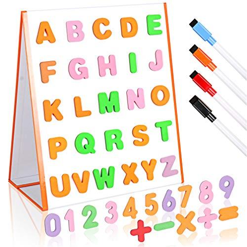 DUTISON Zaubertafeln Kinder Zeichentafel Pädagogisches Lernen ABC Letters Doppelseitiges magnetisches Whiteboard für Kinder