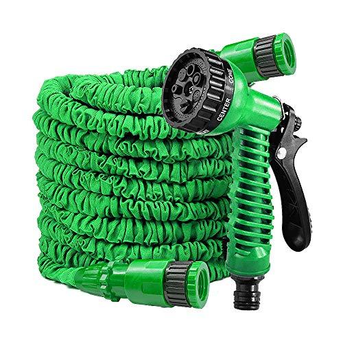 LARS360 Flexibler Gartenschlauch Raktisch Dehnbarer Wasserschlauch Flexibel Schlauch ausgedehnt mit Brause für Haus Garten zur Gartenbewässerung Rasenbewässerung (22.5M - 75FT, Grün)