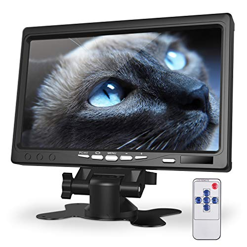 Kuman 7 inch monitor HD display 1024x600 IPS scherm voor Raspberry Pi 4 B 3 2B B 1 B A met HDMI VGA-ingang, ingebouwde luidspreker voor DVD VCR autoafstandsbediening SC7J