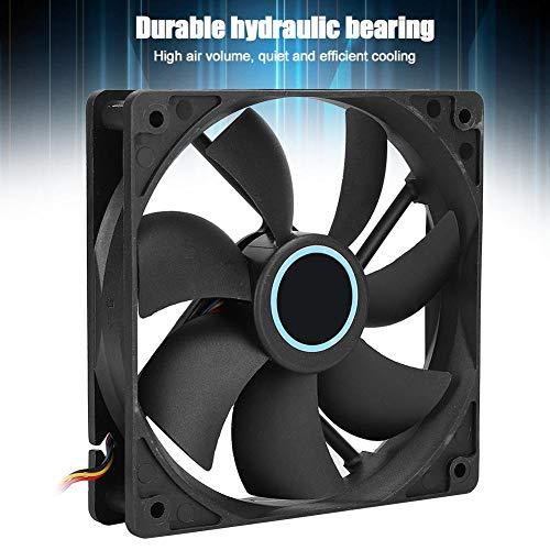 Enfriador de CPU Ultra silencioso, Ventilador de enfriamiento de CPU de computadora de Escritorio DC 12V de 6 Tubos de latón para Intel 775/1155, disipador de Calor de computadora de PC(Negro)