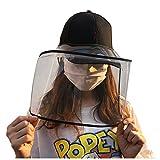 Blingko – Sombrero de protección antisalpicaduras, con Tapa de Punto Alto y tamaño Ajustable, Todo el año, Mujer, Color Negro, tamaño Tallaúnica
