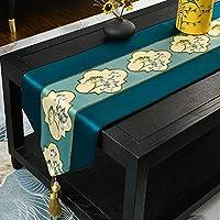 テーブルランナーキッチン 1PCSソリッドカラーサテンテーブルランナーテーブルカバーのウェディングパーティ祭パーティーケータリングホテル表装飾、7色 (Color : A, Size : 34x300 cm)