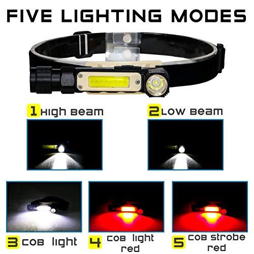 Forart USB-Arbeitsleuchte Wiederaufladbare LED-Kontrollleuchte, tragbare COB-Arbeitsleuchte Drehbare Mini-Taschenlampe für Werkstattmechaniker im Freien