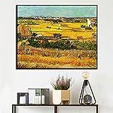 Famoso pintor Golden Field Pinturas en lienzo Cartel de arroz maduro e impresión Imagen de arte de pared para vivir la decoración del hogar 60x80cm Sin marco