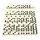 Tree2018 Juego de dominó – Juego de dominó para niños y adultos – Juego doble de seis dominó en grosor del palo en caja