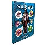 Crazyfly Livre de sciences populaires pour enfants en 3D en anglais sur l'anatomie du corps humain Livre d'éducation précoce pour enfants Compréhension complète de la structure du corps humain