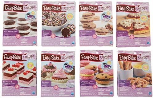 Easy Bake Oven Refills Set of 8 Kits - Truffles, Cakes, Pies, Pretzels, Cookies, Pizza