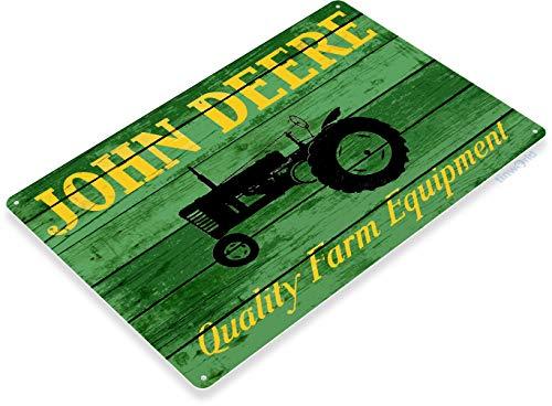 TIN SIGN B628 John Deere Tractor Farm Equipment Tractor Rustic Metal Decor