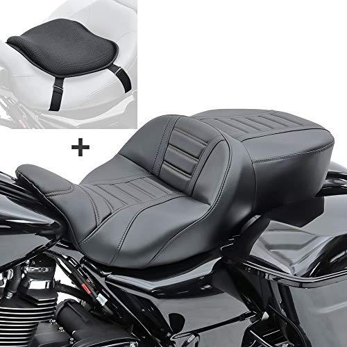 Set SB15 Asiento TG3 para Harley Touring 14-20 Negro + Cojín Gel L