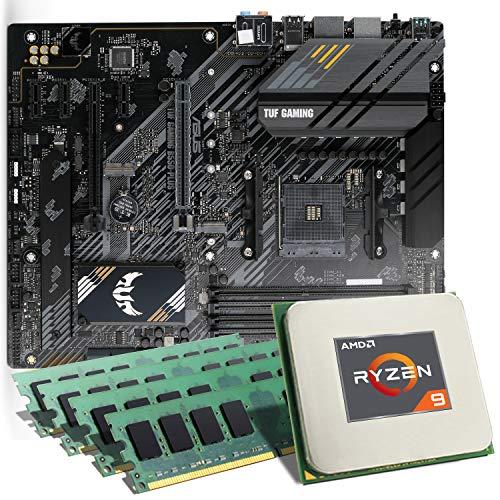 AMD Ryzen 9 5950X / ASUS TUF B550-PLUS Gaming Mainboard Bundle / 64GB | CSL PC Aufrüstkit | AMD Ryzen 9 5950X 16x 3400 MHz, 64GB DDR4-RAM, GigLAN, 7.1 Sound, USB 3.1 | Aufrüstset | PC Tuning Kit