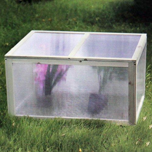 Multistore 2002 Mini Gewächshaus 78x55x47cm Holz/Kunststoff Treibhaus Frühbeetkasten