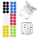 Kontaktlinsenbehälter 24 Pcs Linsenbehälter Verschiedene Farben Kontaktlinsenbehälter Set für Zuhause