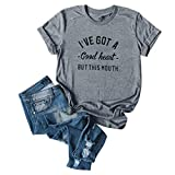 Vedolay Womens Shirts Short Sleeve Cute Women Tunic Tops, Summer Casual Short Sleeve O Neck Floral Print Gothic Loose Leggings Flowy T-Shirt Blouse