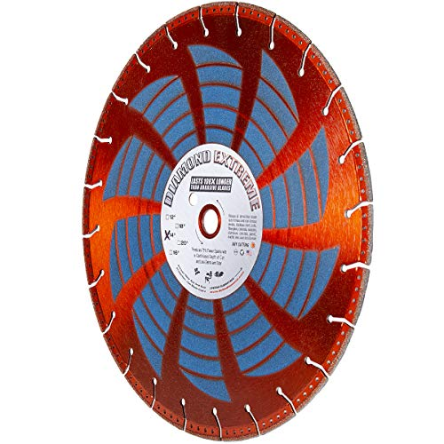 "Diamond Extreme Heavy Duty 14-Inch X .130 X 1""-20MM Metal Cutting Diamond Rescue Blade with Side Coating - use with Hand-Held Saws & Concrete Saws for Cutting Rebar, Ductile Pipe and Similar (14-Inch)"