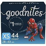 Boys Bedwetting Night Time Underwear, Goodnites, XS, 44 Ct