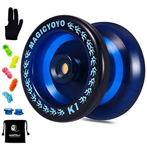 YOSTAR Responsive YoYo Magic YOYO K1-Plus with Yoyo Bag/Sack + 3 Strings and Yo-Yo Glove Gift (Dark Blue)