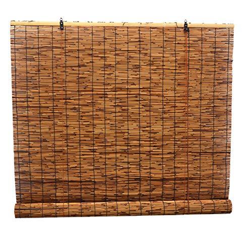 Cortina De Paja Natural, El Tamaño Se Puede Personalizar - Color Carbonizado Cortinas De Bambú, Estilo Rústico, Utilizado Para Decoración De Pabellones, Escritorios Y Paredes - Cortinas Decorativas
