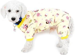 Pet Dog Hooded Clothes Dog Puppy Cat Striped Pigiama Tuta Piccola Pet Cotone Abbigliamento Costume Pet Felpe Abbigliamento Abbigliamento per Cani per Cani e Gatti di Piccola Taglia L-Blu + Bianco