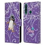 Head Case Designs Licenciado Oficialmente Animal Club International Penguin Pet Royalties Carcasa de Cuero Tipo Libro Compatible con Huawei Y6p