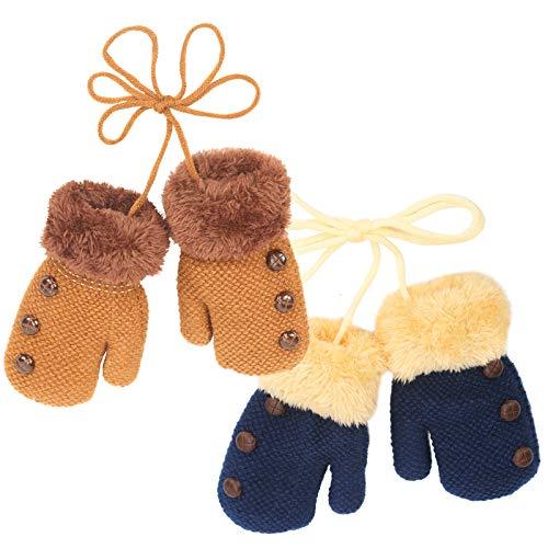 LOPOTIN Peuter Handschoenen Leeftijd 1-3 Kinderen Winter Handschoenen Peuter Magic Stretch Wanten Winter Unisex Baby Gebreide Handschoenen