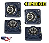 UCF204-12 Pillow Block Flange Bearing 3/4' Bore 4 Bolt Solid Base (4PCS)