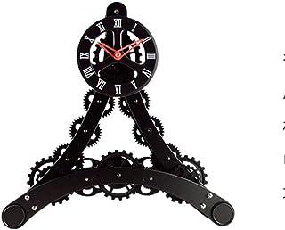 Alarm Clock برج إيفل ساعة والعتاد الدورية الإطار الكوارتز ساعة ميكانيكية كتم الأسود Desk Clock