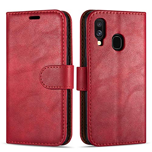 "Case Collection Custodia per Samsung Galaxy A40 Cover (5,9"") a Libretto in Pelle di qualità Superiore con Slot per Carte di Credito per Samsung Galaxy A40 Custodia"
