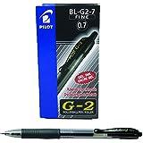 Pilot BL-G2-7 - Bolígrafo, color negro, paquete de 12 piezas