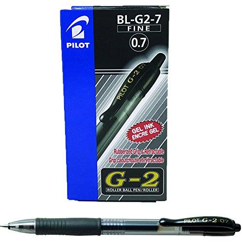 Pilot G207 Penna (0,7 mm), confezione da 12, colore: Nero