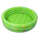 JYCRA aufblasbares Planschbecken für Babys, langlebig, zusammenklappbar, Bällebad für Kinder, PVC, grün, 80 cm