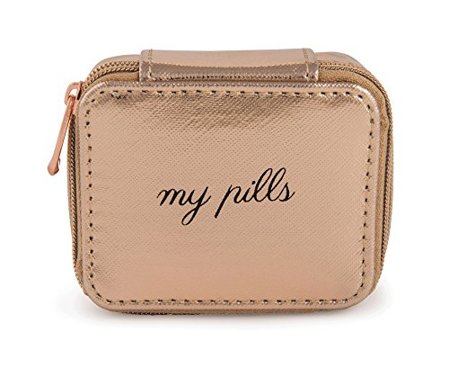 Miamica Women's Pill Case, Rose Gold, One Size