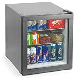 bar@drinkstuff Frostbite Mini Fridge Silver - 49ltr Compact Refrigerator Holds 45 x 330ml Cans  A+ Energy Rating