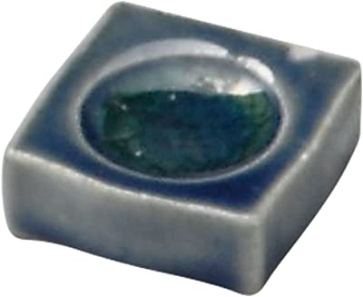山下工芸 箸置き 白 3.5cm 手造り藍釉四角箸置 14084170