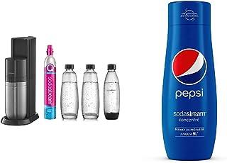 sodastream Pack Machine à Eau Pétillante et Soda 2 en 1 Duo Concentré Pepsi – 100% du Goût Original – avec Bouchon Doseur...