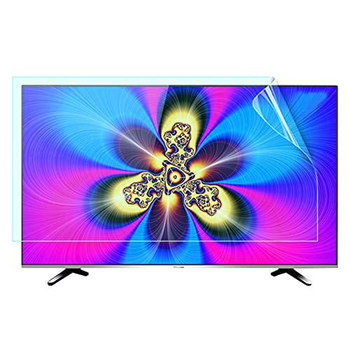 WLWLEO Película Protectora de Pantalla de TV Filtro antideslumbrante Bloqueo de la luz Azul, Reduce la Fatiga Ocular, Película Anti-arañazos para monitores de TV de 32-75 Pulgadas,65' 1440×809mm