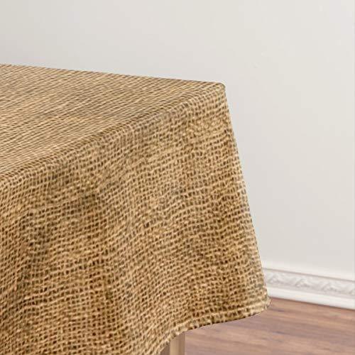 Mantel de imitación rústico con textura de arpillera, a prueba de aceite, mantel a prueba de derrames, cubierta de mesa limpia para mesa de comedor