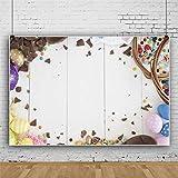 Planche de Bois thème de Pâques Photographie Fond Suspendus Oeufs de Pâques Fond de Planche de Bois Fond de Mur en Bois Enfants 5X7Ft Vinyle