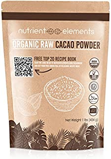 2lb Raw Organic Cacao Powder - Certified, Unsweetened Cacao for Baking, Smoothies & More - Keto Super-food for Daily Use - Made from Highly Prized Criollo Beans in Peru - NON-GMO, Gluten-Free & Vegan