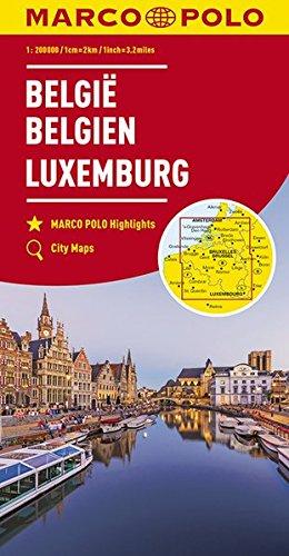MARCO POLO Regionalkarte Belgien, Luxemburg 1:200 000: Wegenkaart 1:200 000 (MARCO POLO Karten 1:200.000)