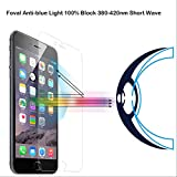 iPhone 6s Screen Protector, Foval Anti Blue Light [Eye Protect] Screen Protector for Apple iPhone 6 6s Inch with HD Ultra Clear Anti Fingerprint Anti Scratch (4.7'')