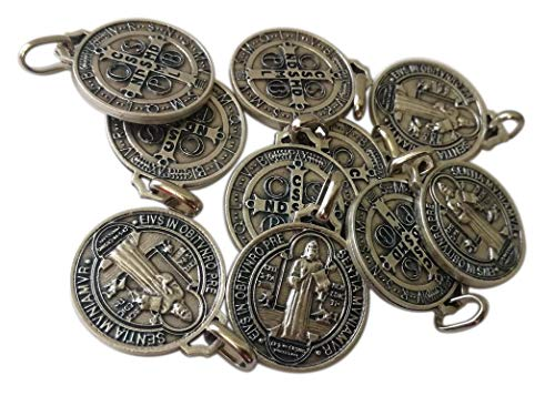 Eurofusioni San Benito Medalla Plata chapeada - Diámetro 2,1 cm - 10 medallas